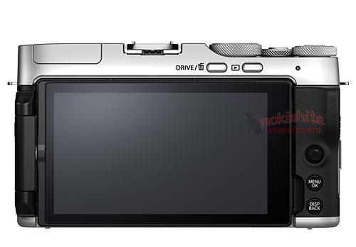 Fujifilm X-A7, вид сзади
