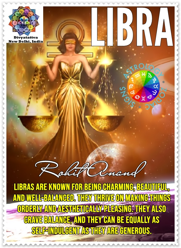 Know about Libra Zodiac Star Sign or Tula Rashi Personality Traits, Nature, Sex Life, their Rising Appearance and Free Horoscope Today