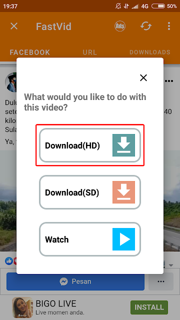 cara download video dari facebook di hp android 10