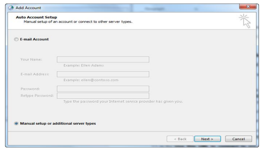 Indiapost Mail Outlook Configuration - Step By Step Procedure