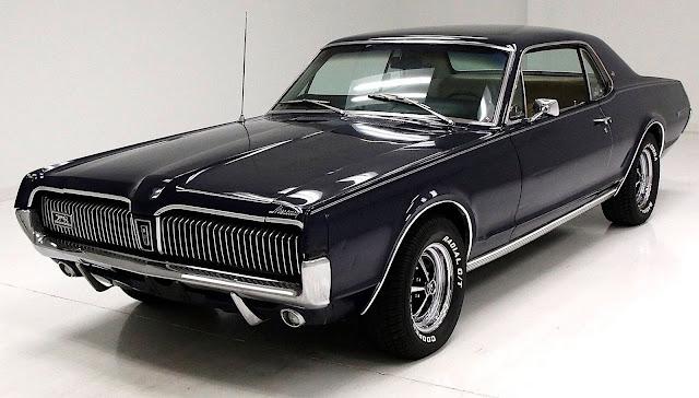 a 1967 Mercury Cougar in black