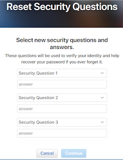Apple ID Reset Security Questions