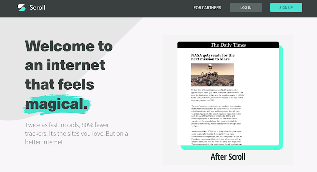 Home page of Scroll