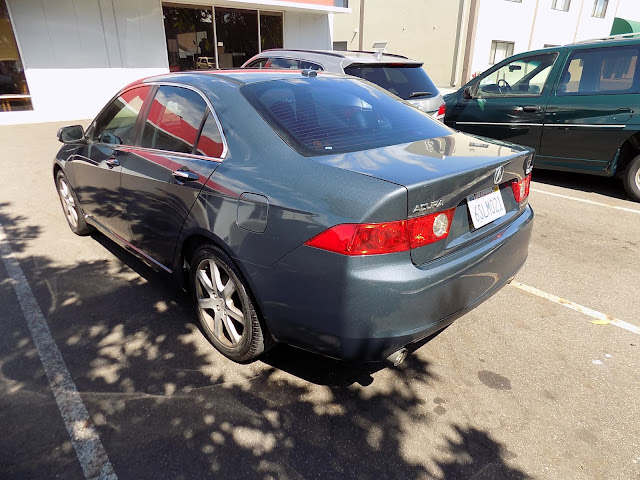 Shiny, new paint job on Acura TSX from Almost Everything Auto Body.