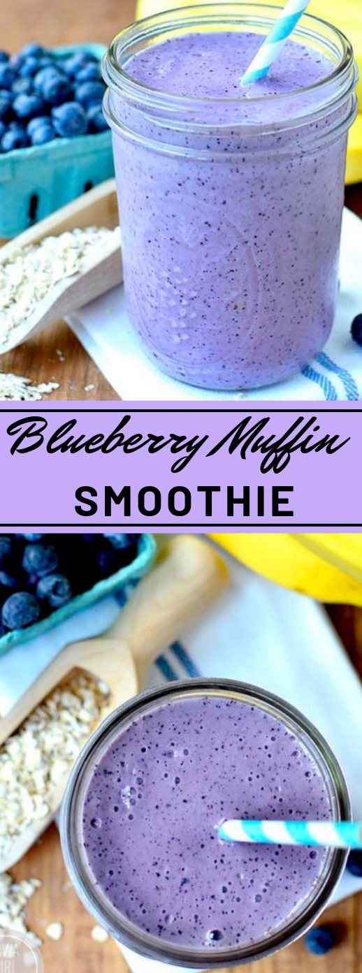 Blueberry Muffin Smoothie #blueberry #yummy #drink #party #smoothie