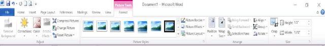 tinhoccoban.net - Tab chứa các công cụ để hiệu chỉnh hình ảnh