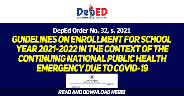 Guidelines on Enrollment for School Year 2021-2022 in the context of the continuing National Public Health Emergency due to COVID-19