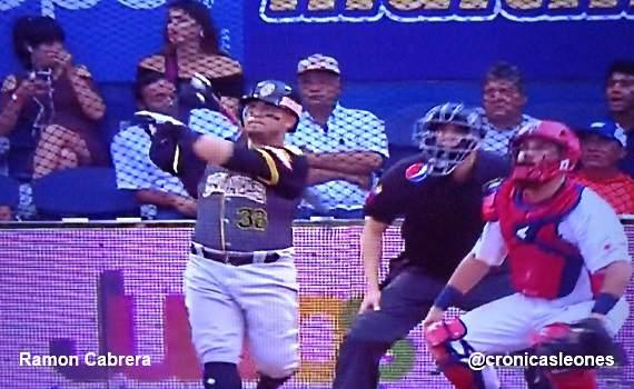 Jonron de Ramon Cabrera y Entrevista como #MasValioso en victoria sobre Tigres de Aragua