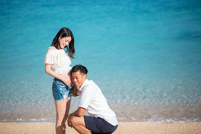沖縄 マタニティフォト ビーチ 海