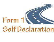 How to fill Driving Licence Form 1 Self Declaration