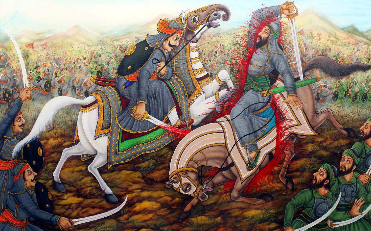 Image result for battle of mughals