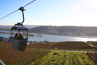 Cable car to the Niederwald Monument, Rüdesheim, Germany