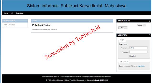 Sistem Informasi Publikasi Karya Ilmiah Mahasiswa Dengan Codeigniter