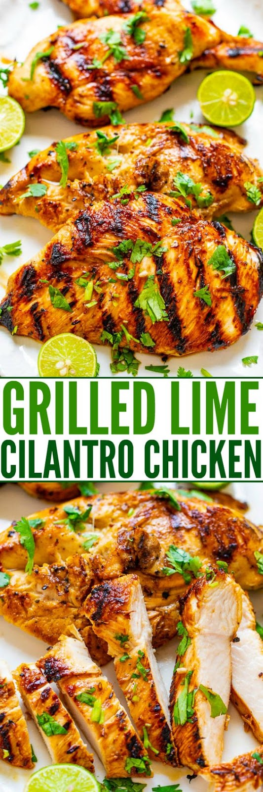 GRILLED LIME CILANTRO CHICKEN