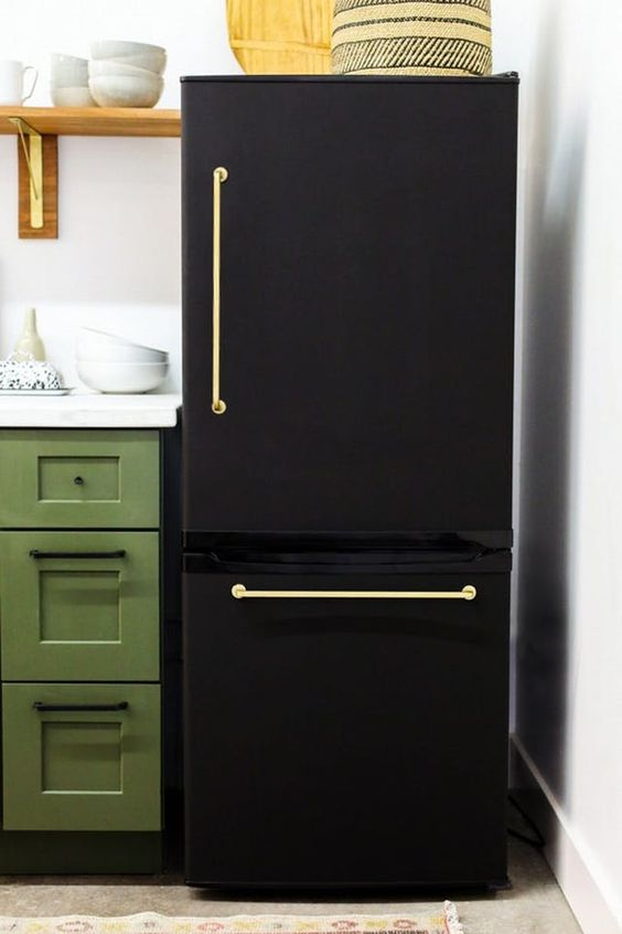 painted fridge makeover