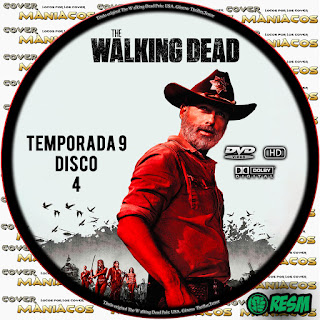 GALLETA 4 THE WALKING DEAD TEMPORADA 9 - 2018 [COVER DVD]