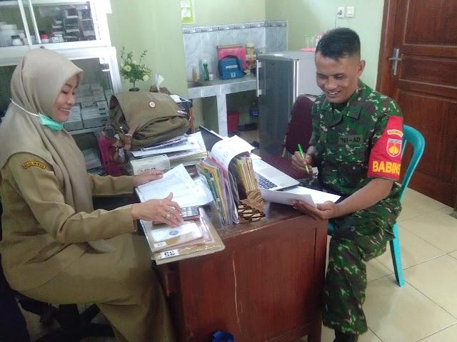 Pererat Silaturahmi Babinsa Koramil 22 Wonosari Anjangsana Ke Kantor  Desa
