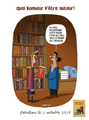 Dessin humoristique de CHEREAU. Librairie.