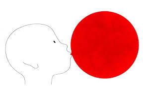bambino con palloncino rosso