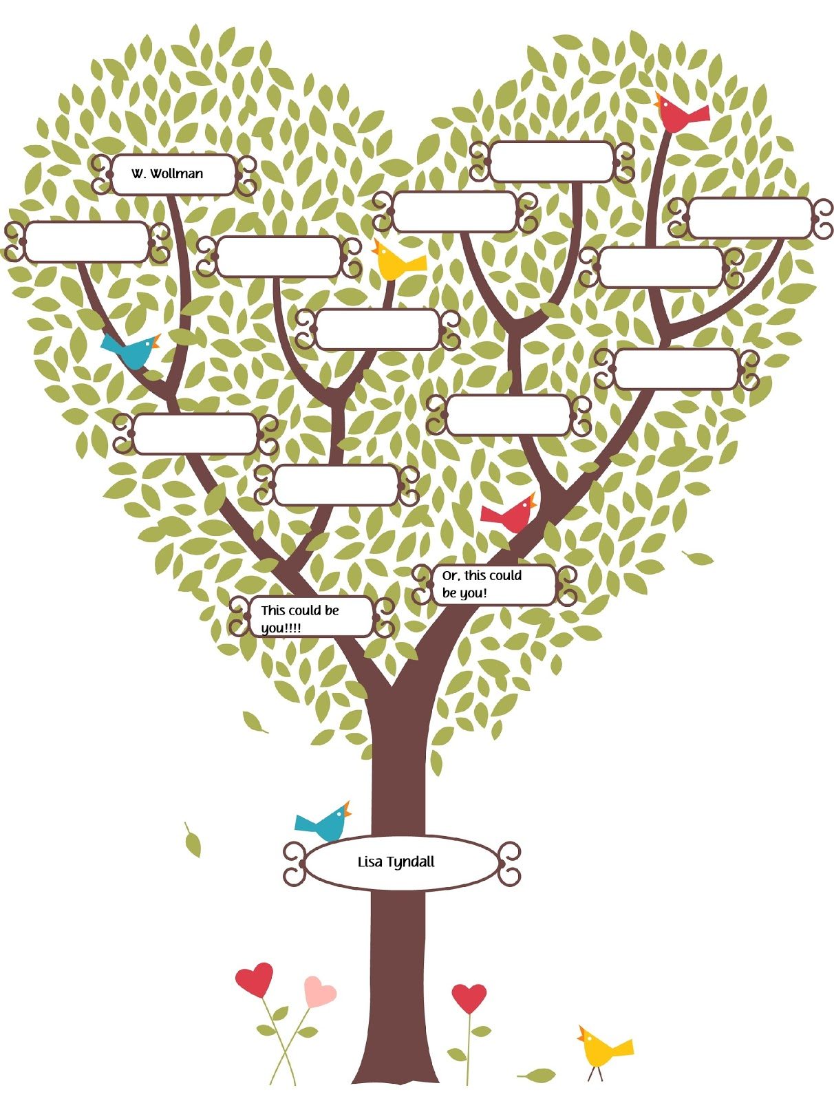 Cute Fill In The Blank Family Tree