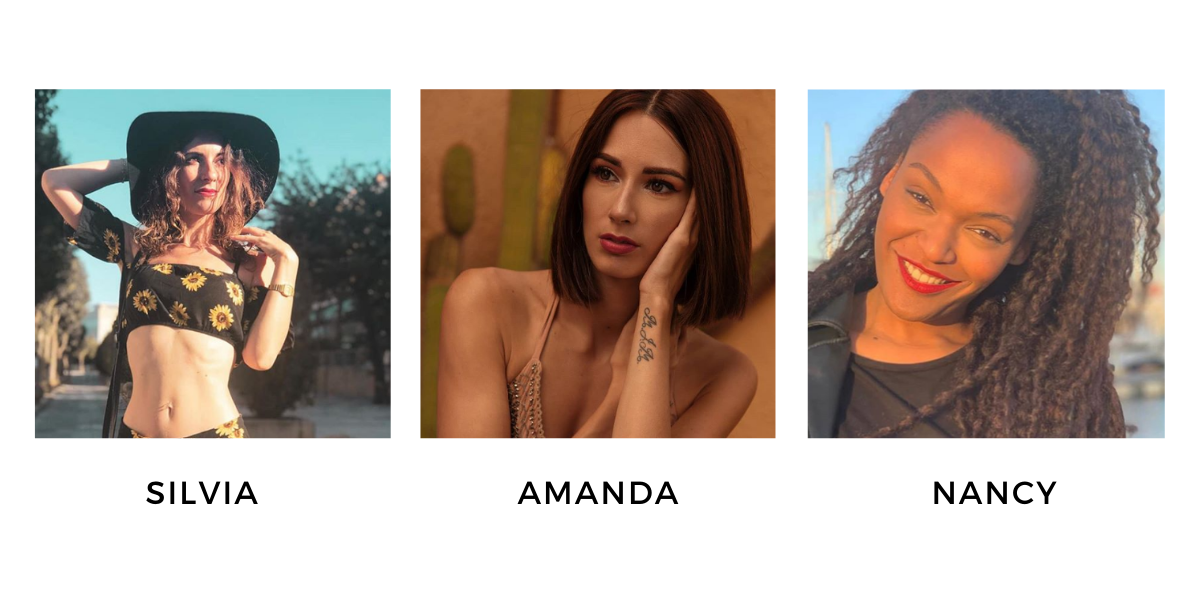 SILVIA, AMANDA, NANCY