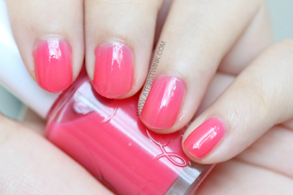 Etude House nail polish PK001 - Cherry Blossom syrup warm raspberry pink jelly nail polish