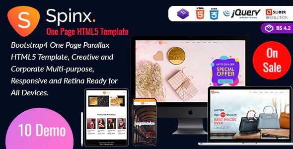Multipurpose One Page Parallax Template