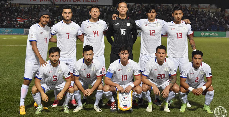 Philippine Azkals winning versus Tajikistan