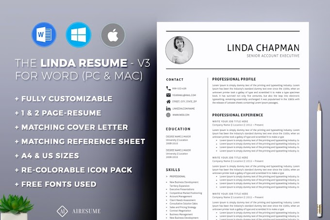 Professional Resume / CV Template Download