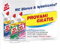Logo Rimborsati con WC NET ''Provami Gratis'': operazione cashback