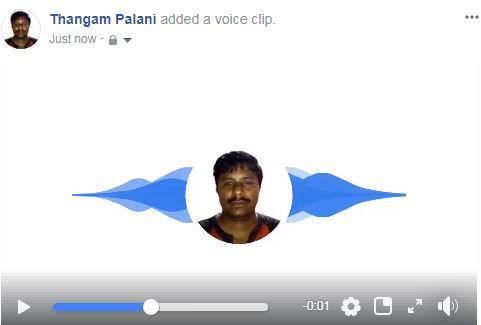 voice clip in facebook