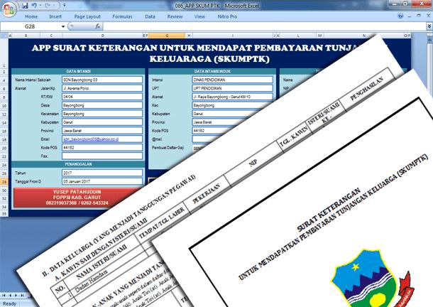 Aplikasi Surat Keterangan untuk Mendapat Pembayaran Tunjangan Keluarga (SKUMPTK)