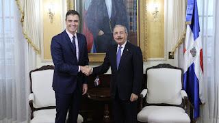 Danilo Medina felicita a Pedro Sánchez. Expresa deseos su nueva gestión fortalezca democracia, unión fraternal y progreso del pueblo español