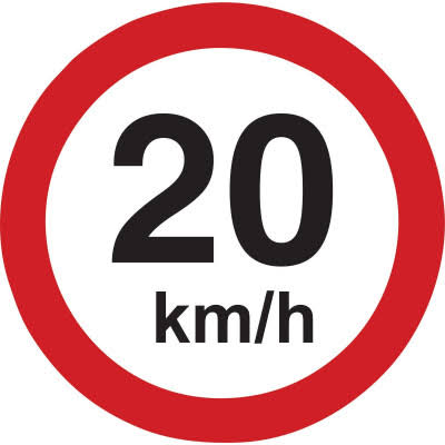 reduced speed limits by 20km/h