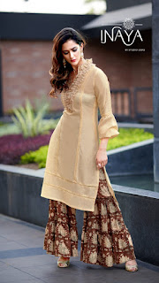 Inaya Libas Studio LPC 25 Party wear kurti with Sharara