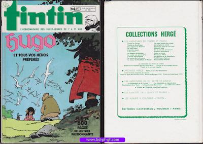 Recueil Tintin, numéro 194, année 1988-1990
