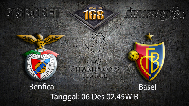 PREDIKSIBOLA - PREDIKSI TARUHAN BOLA BENFICA VS BASEL 6 DESEMBER 2017 ( UEFA CHAMPIONS LEAGUE )