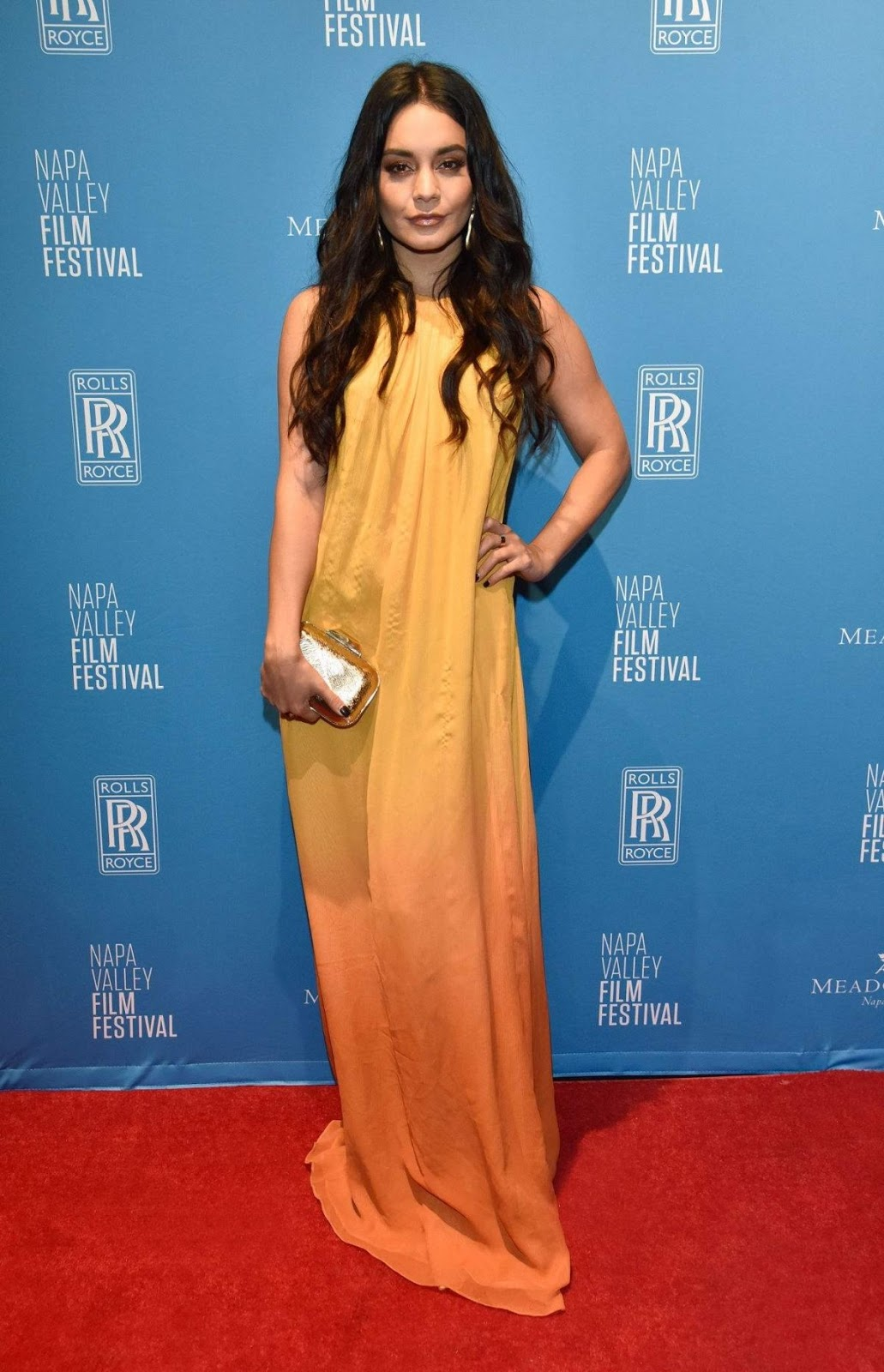 Vanessa Hudgens stuns in a backless dress as she is awarded alongside stars at the Napa Valley Film Festival