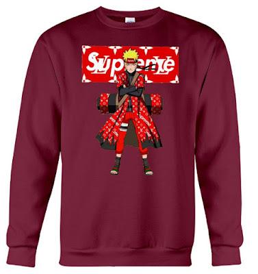 naruto supreme hoodie, naruto supreme jacket, naruto supreme t shirt
