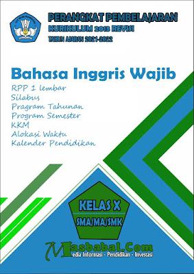 Perangkat Pembelajaran Bahasa Inggris Wajib Kurikulum 2013 Revisi Terbaru