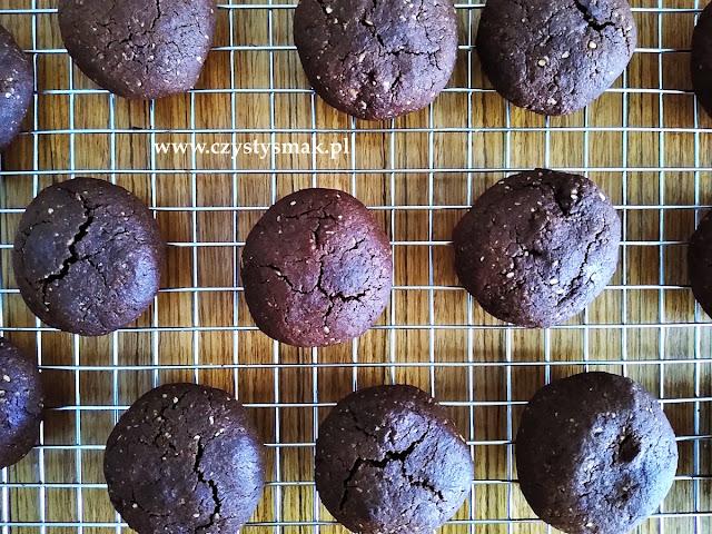 Ciasteczka brownie z mąki orzechowej