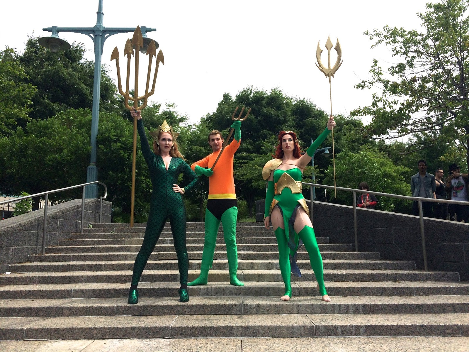 Mera and Aquaman cosplayers Special Edition NYC