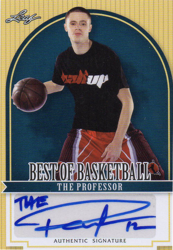 Card Buzz 2012 Leaf Best Of Basketball The Professor Autograph Tp 1 Boucher got the nickname 'the professor' because he schools so many opponents on the court. card buzz 2012 leaf best of basketball