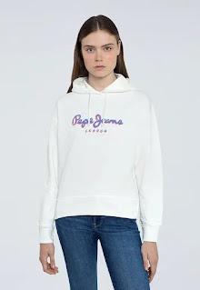Pepe Jeans London - Дамски Суитшърт с лого