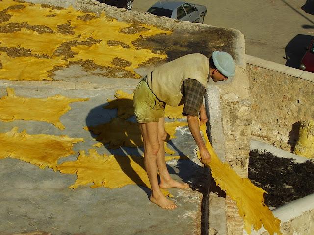 Trabajador de la Curtiduria de Fez