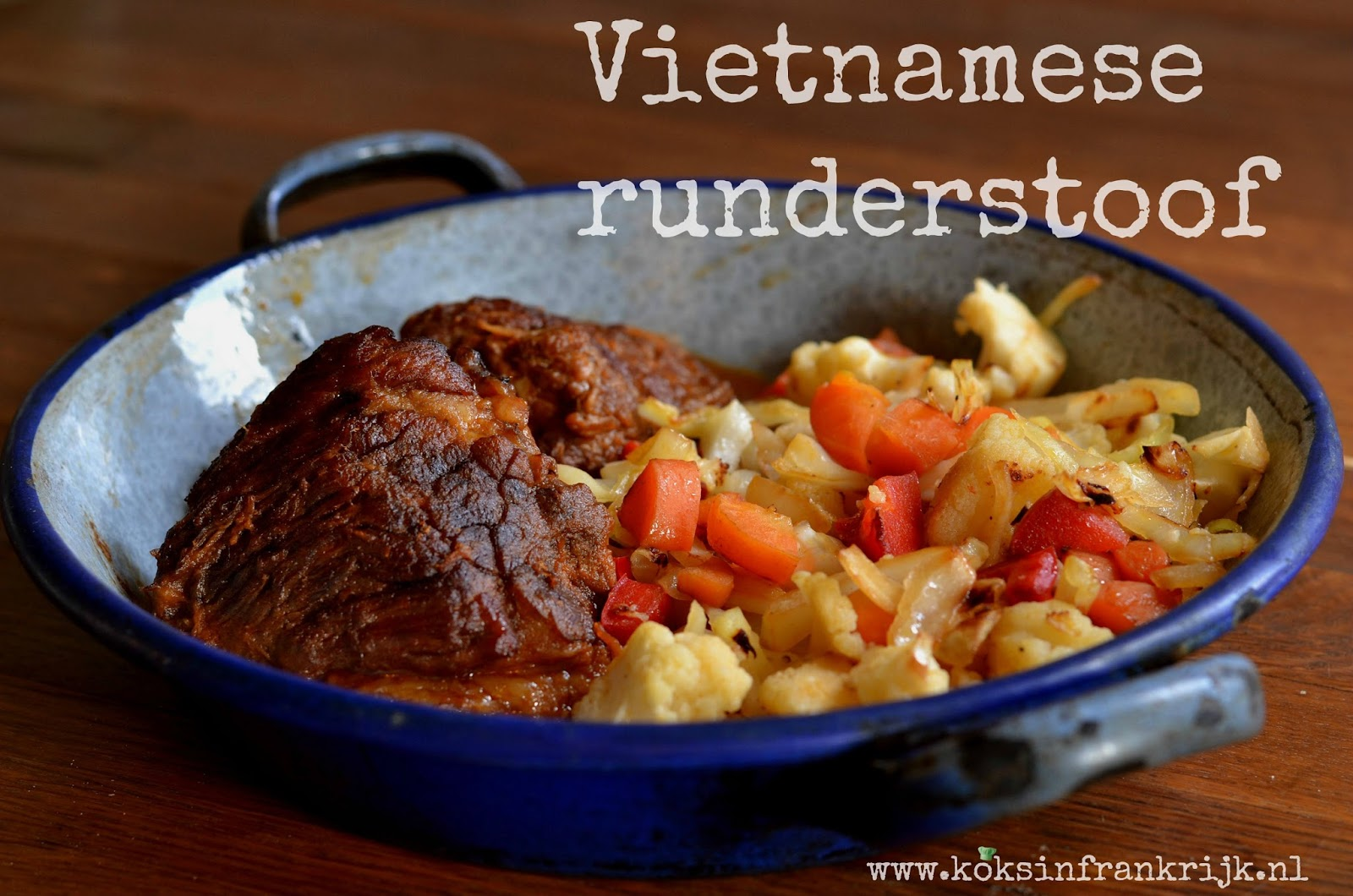 Vietnamese rundvlees stoofpotje (BoKho) - langzaam stoven in de oven of slowcooker