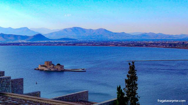 Forte Bourtzi, em Nafplio, Grécia