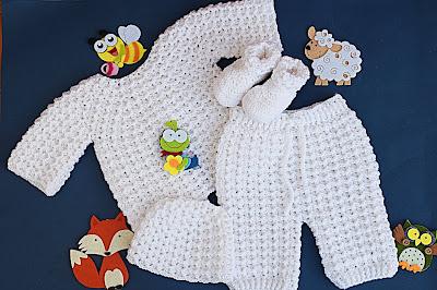 3 - Crochet Imagen Pantalones a crochet del conjunto blanco por Majovel Crochet