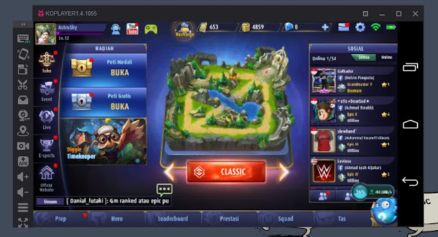 cara bermain mobile legend di pc/laptop