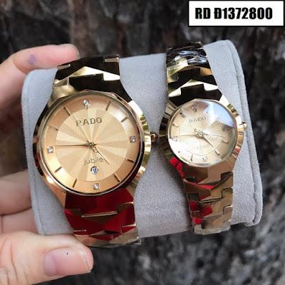 Đồng hồ cặp đôi màu vàng Rado RD Đ1372800
